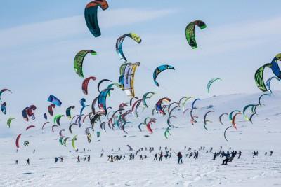 Redbull Ragnarok 2017 Snowkite race