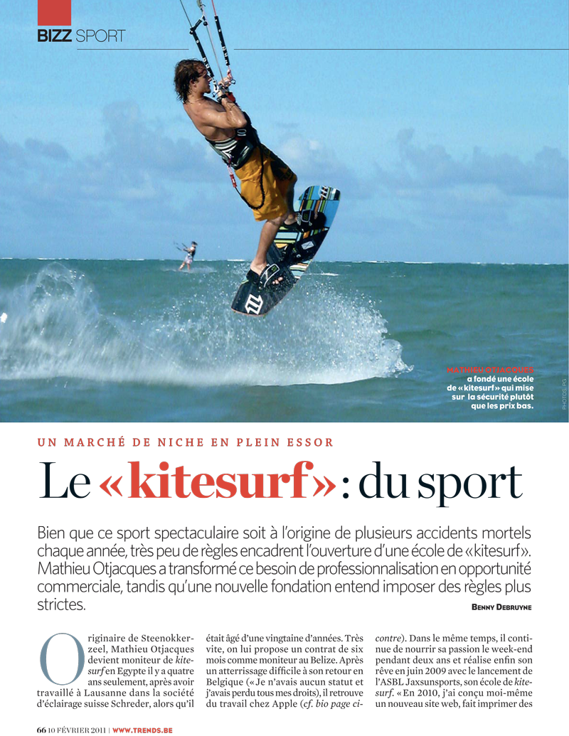 Trends Magazine Kitesurf